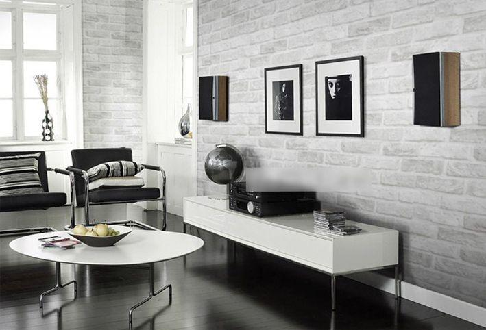 Глубоко тиснением 3D кирпичная стена бумаги современный старинные кирпичные камень выкройки обоев для гостиной облицовка стен декор