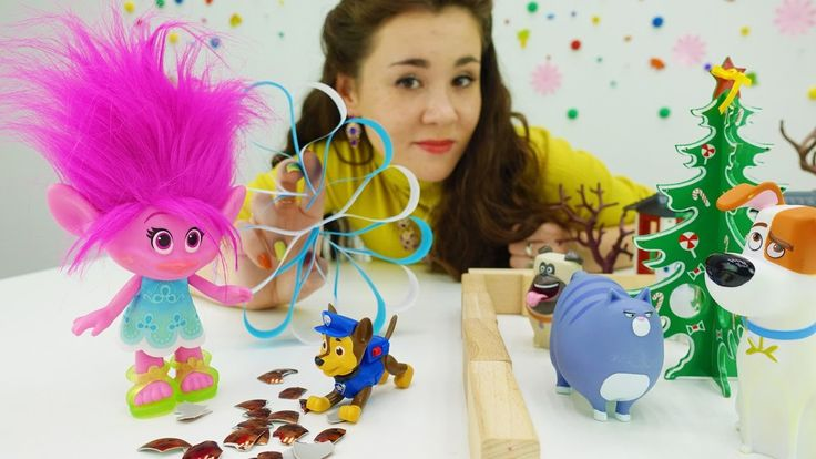 Мультфильм Тролли и новогодние поделки! Видео про игрушки: мастерим вмес...