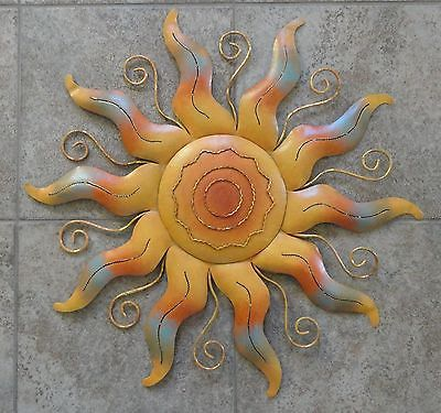 sun wall art metal sculpture sunburst 22 indoor outdoor