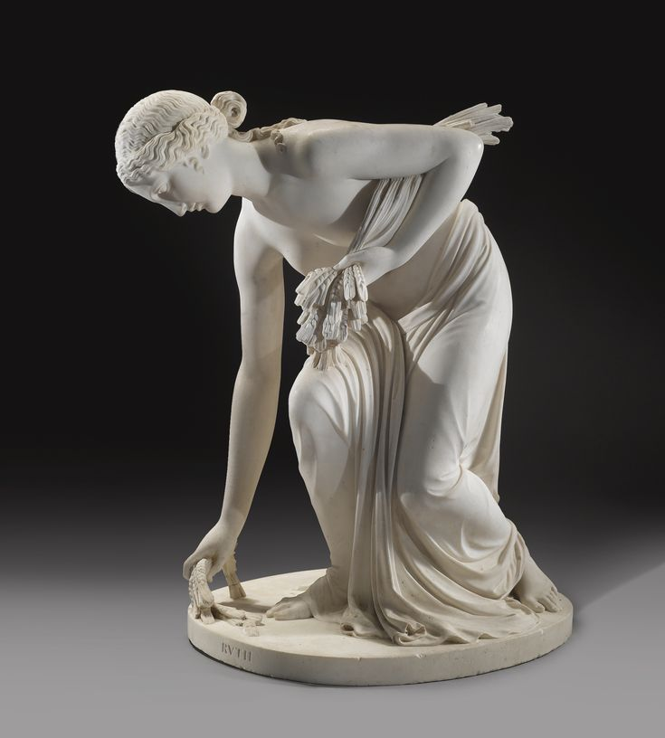 An English marble figure of Ruth, by Joseph Gott (1786-1860), 1827, Rome