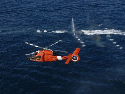 A Helicopter Crew Trains Off the Coast of Jacksonville, Florida