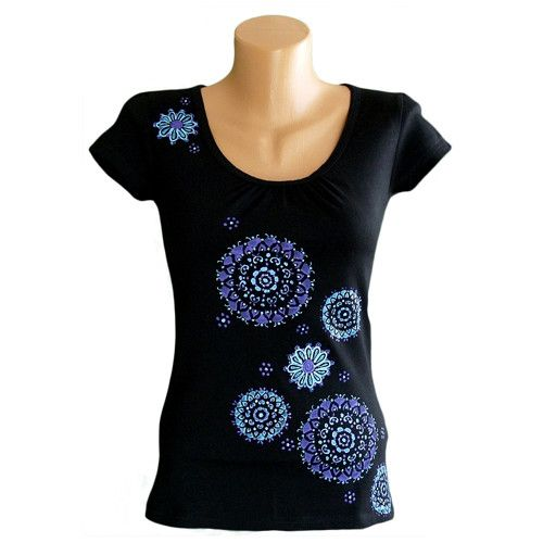 Černé dívčí tričko velikost 34