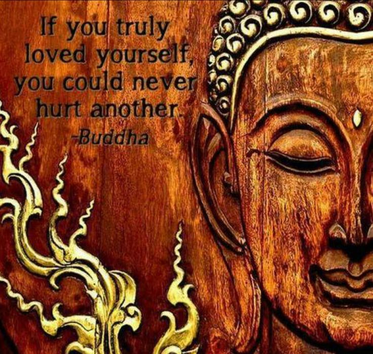 If you truly loved yourself, you could never hurt another ...