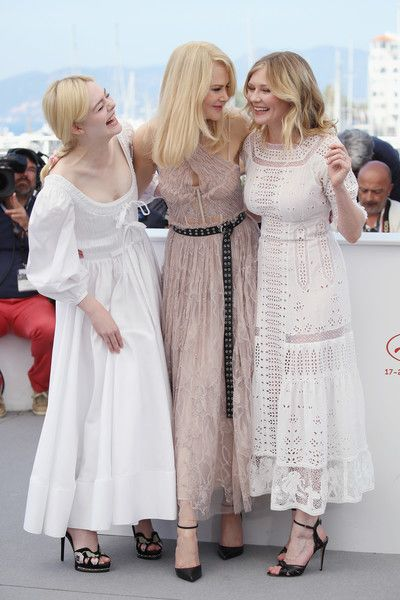 """Kirsten Dunst Photos Photos - Actresses Elle Fanning, Nicole Kidman and Kirsten Dunst attend """"The Beguiled"""" photocall during the 70th annual Cannes Film Festival at Palais des Festivals on May 24, 2017 in Cannes, France. - 'The Beguiled' Photocall - The 70th Annual Cannes Film Festival"""