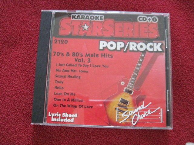 SOUND CHOICE KARAOKE STAR SERIES 70'S & 80'S MALE HITS 2120 VOL 3 POP ROCK RARE