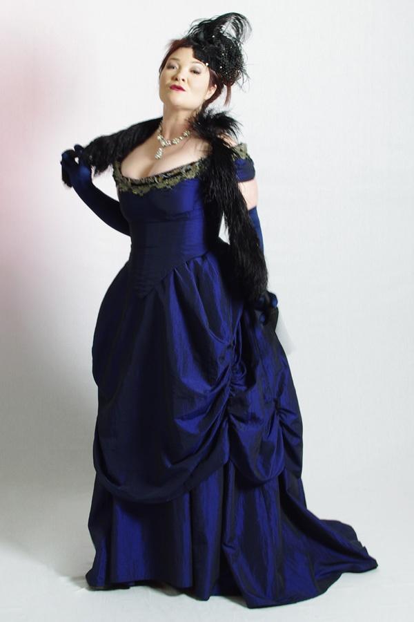 Blue Victorian Dress, The Costume Shop, Melbourne.