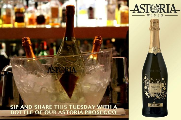 Sip and Share this Tuesday with a bottle of our Astoria Prosecco. Who will you share with?  #astoria #astoriawinescanada #wine #prosecco #lcbo