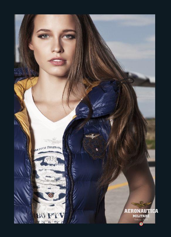 LINEA COLOUR - Piumino smanicato AB1132D, t-shirt manica corta TS978D