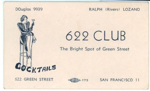 The 204 best matchbooks business cards and other ephemera images on 622 club business card san francisco 1930s cocktails colourmoves