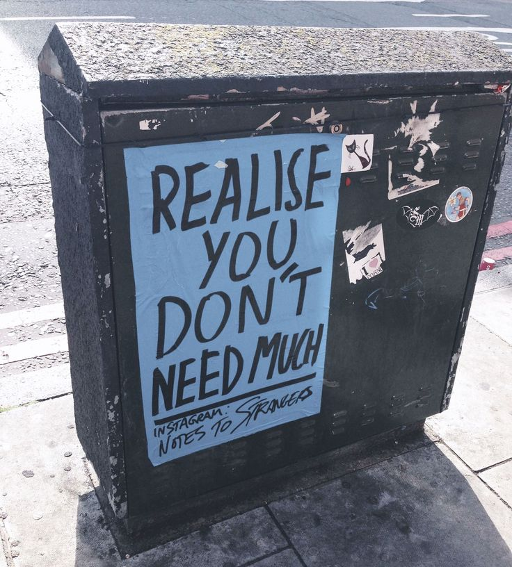 You don't need much #NotesToStrangers
