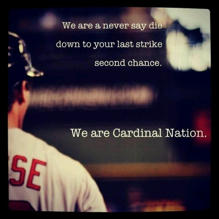 Down to the last strike two times....and still come back. And THAT is just one of the reasons why I'm a STL Cardinals fan!