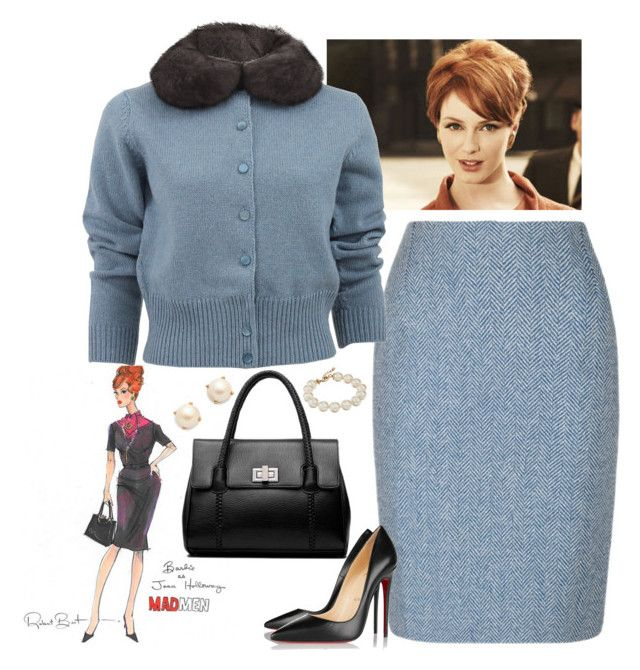 """Joan Holloway Style"" by dickensfan ❤ liked on Polyvore featuring Marc Jacobs, Christian Louboutin, Kate Spade, joanholloway and madmen"