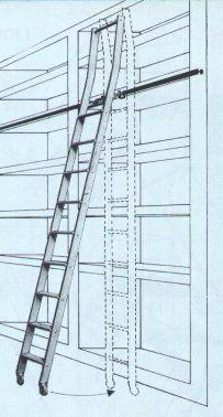 Pi di 25 fantastiche idee su pioli di legno su pinterest - Scalette per librerie ...