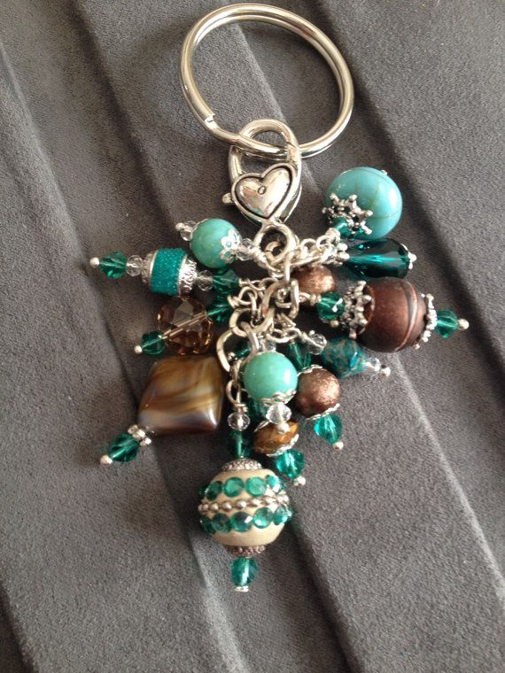 Beautiful Beaded Key Chain and or Purse Charm all in one.