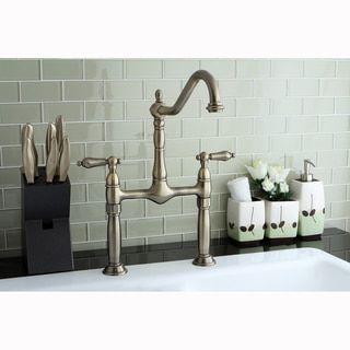 Bridge Vintage Vessel Bathroom Faucet - 15454258 - Overstock.com Shopping - Big Discounts on Kingston Brass Other Plumbing
