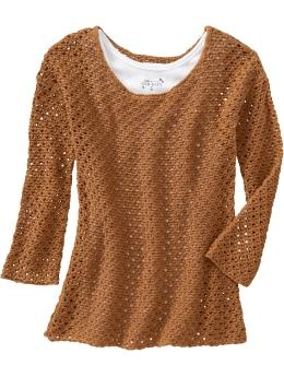 Layer up! This could take some summery dresses into the colder months. Old Navy, $34.94