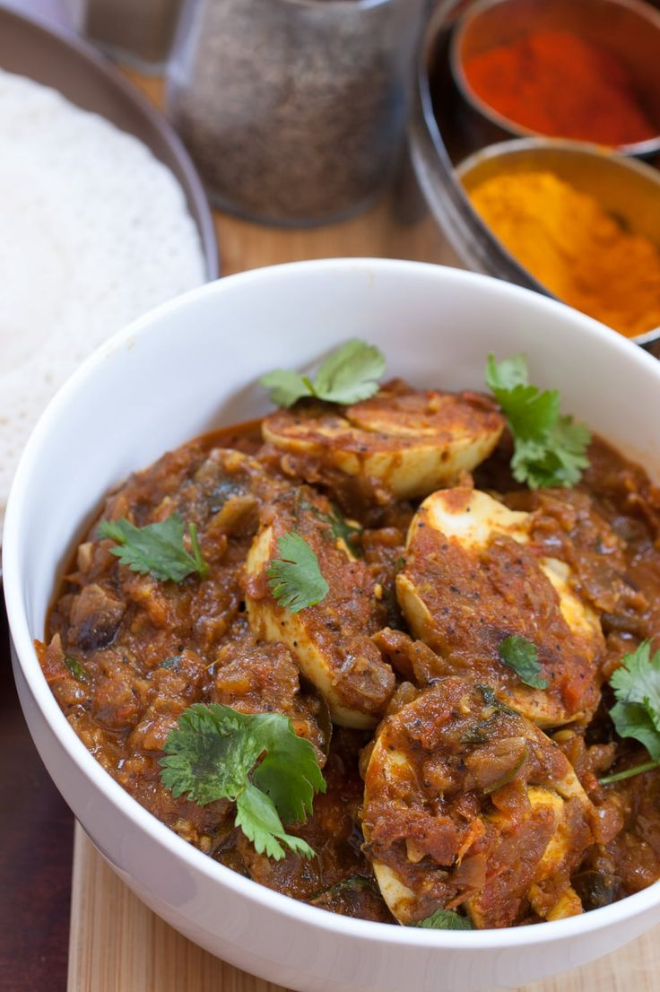 Boiled eggs cooked in spicy onion tomato masala gravy. One of the easy and tasty side dish that you can prepare very quickly. Mostly served for breakfast with Appam(Rice and Coconut pancake) or Noolappam or Puttu. Also tastes great with roti or any Indian bread.