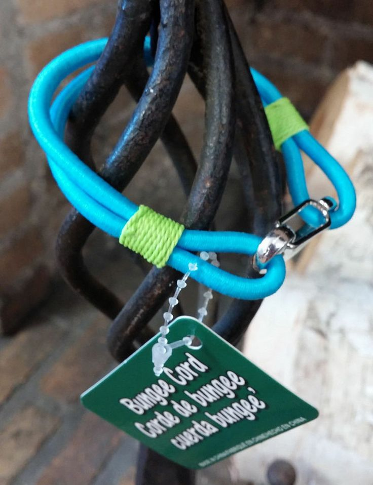 Bungee Cord Bracelet - Aqua and Green - NEW with TAGS
