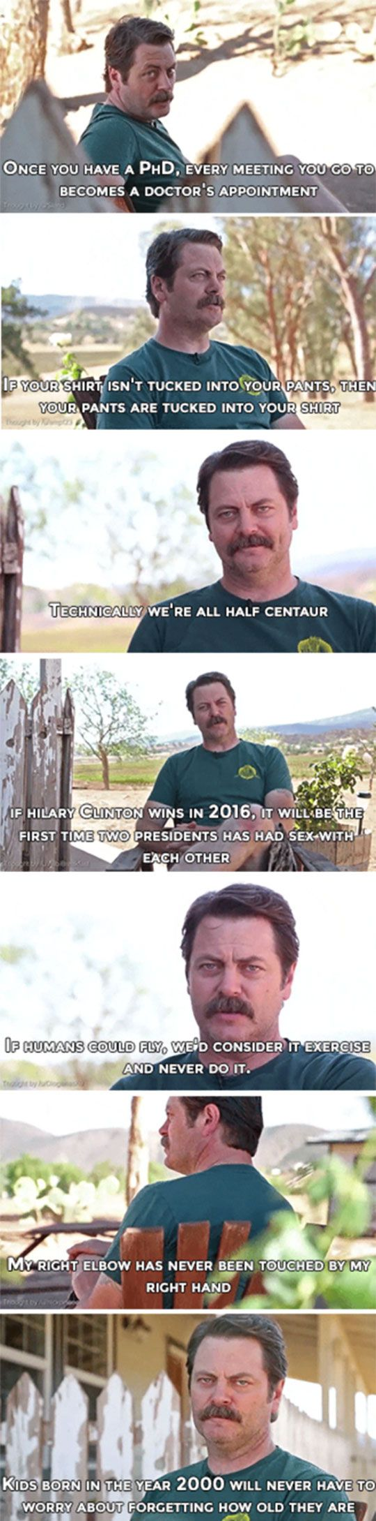 Nick Offerman Shares Some Deep Thoughts