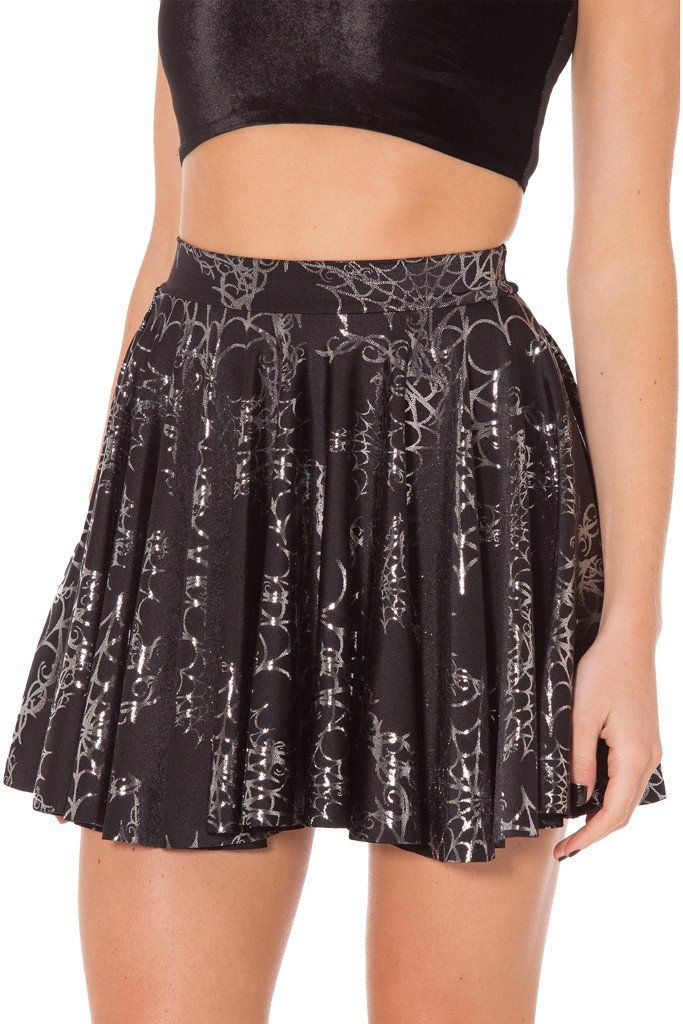 [TAGS ON] WICKED WEB SILVER CHEERLEADER SKIRT - M