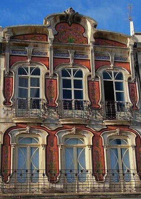 Art nouveau facade Aveiro