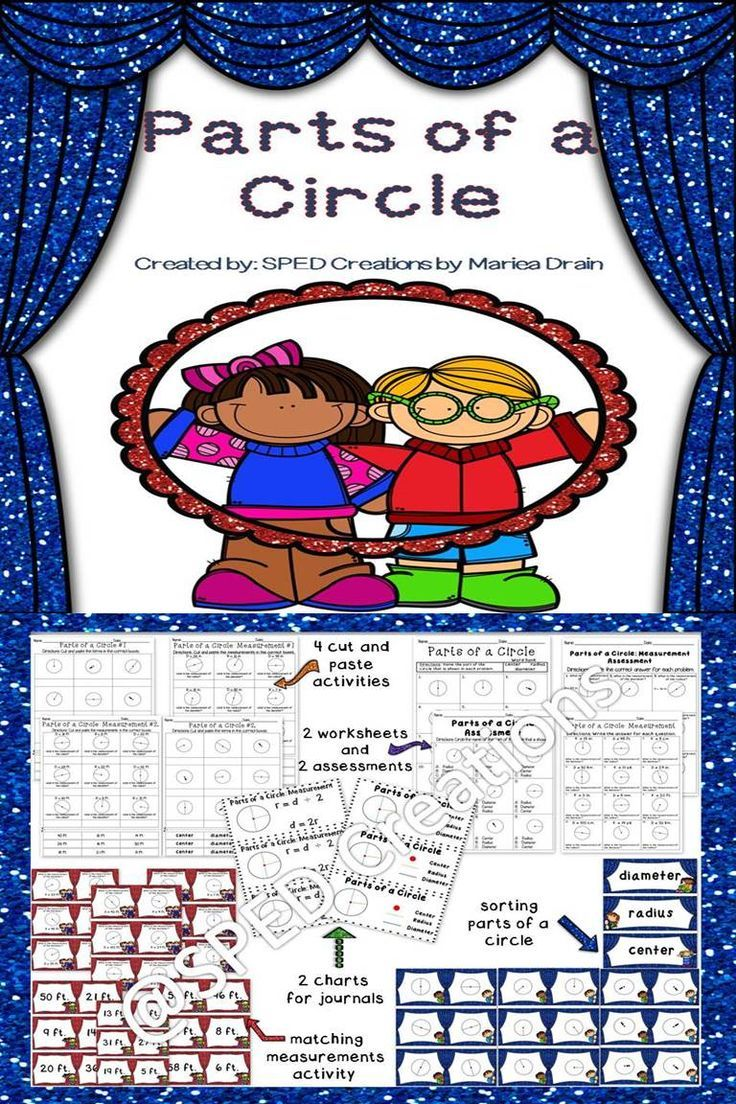 Students will identify parts of a circle and find the measurement of the diameter or radius.  (8 worksheets, 2 charts, and 2 center activities)