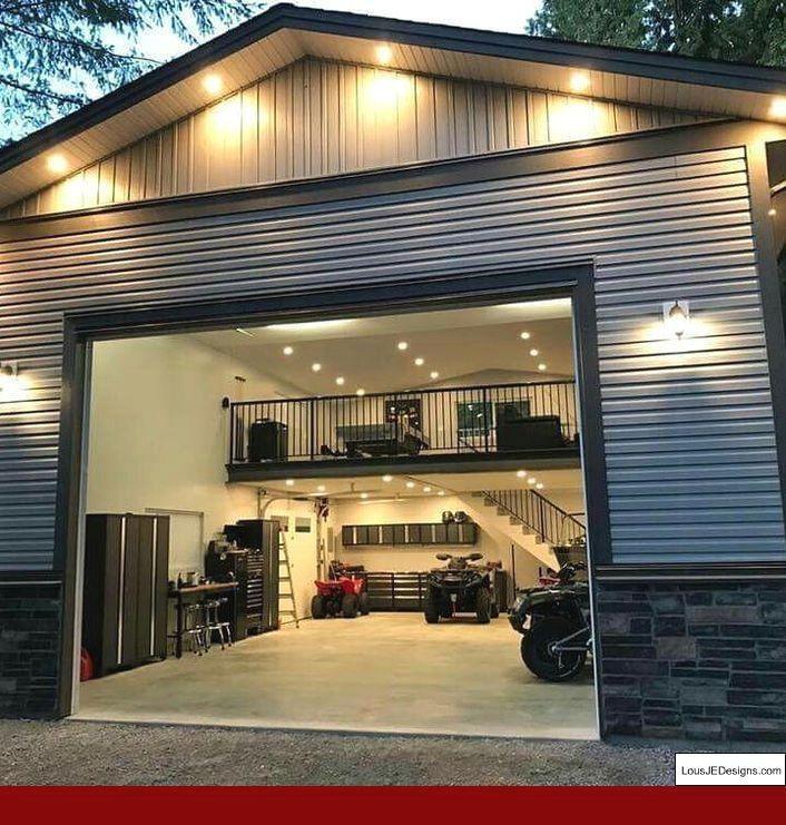Garageshop Garageworkshoppics Garage Workshop With Garage Workshop With Living Quarters And Garage Workbench Di Garage Design Pole Barn Homes Garage House