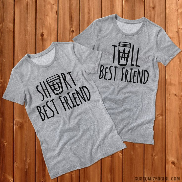 I'll have a tall coffee, cream and sugar. Wear this cute coffee best friend shirt and get the other matching tee for your bff. Every tall best friend needs a short best friend.