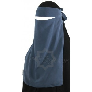 One Piece Niqab is a simple Saudi style niqab made of super soft, high quality chiffon that is comfortable and breathable. The niqab ties around the head for an adjustable fit    Brand Sunnahstyle