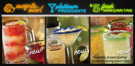 The new Platinum Presidente Margarita from Chilis is awesome