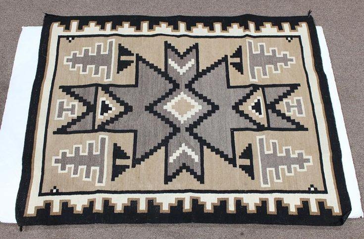 Navajo Two Grey Hills carpet - Price Estimate: $800 - $1200