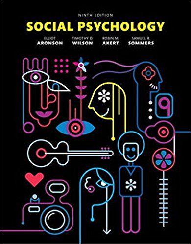 Social Psychology 9th Edition By Elliot Aronson Ebook Pdf Isbn 13