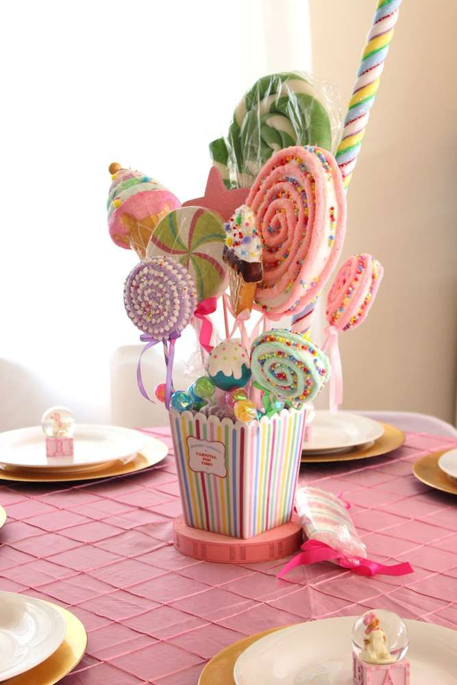 Pastel Carousel Circus Baby Shower Party Ideas | Photo 8 of 19 | Catch My Party