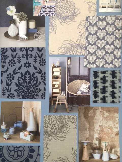 Indigo blues, inspiration  moodboards available from Beach House DECOR Studio - www.beachhouse.co.za