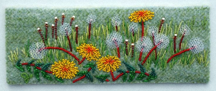 Love this!!  Look the dandelions are large mesh tulle....
