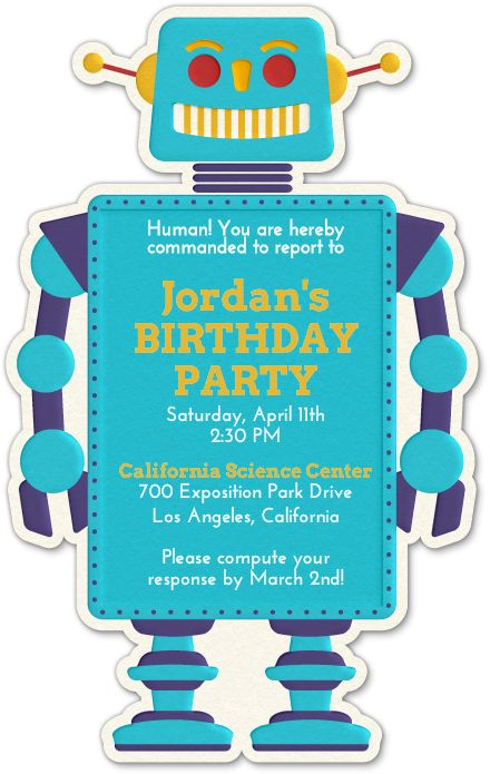 Design Your Invitation Robot Evite