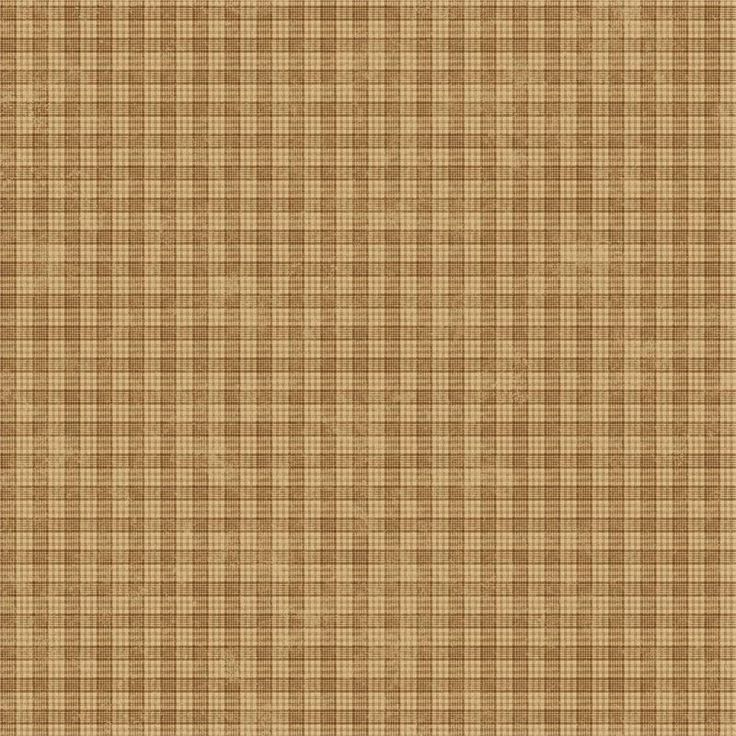Primitive Country Wallpaper | Tan Cottage Plaid Wallpaper is prepasted and has 20.5 inches pattern ...