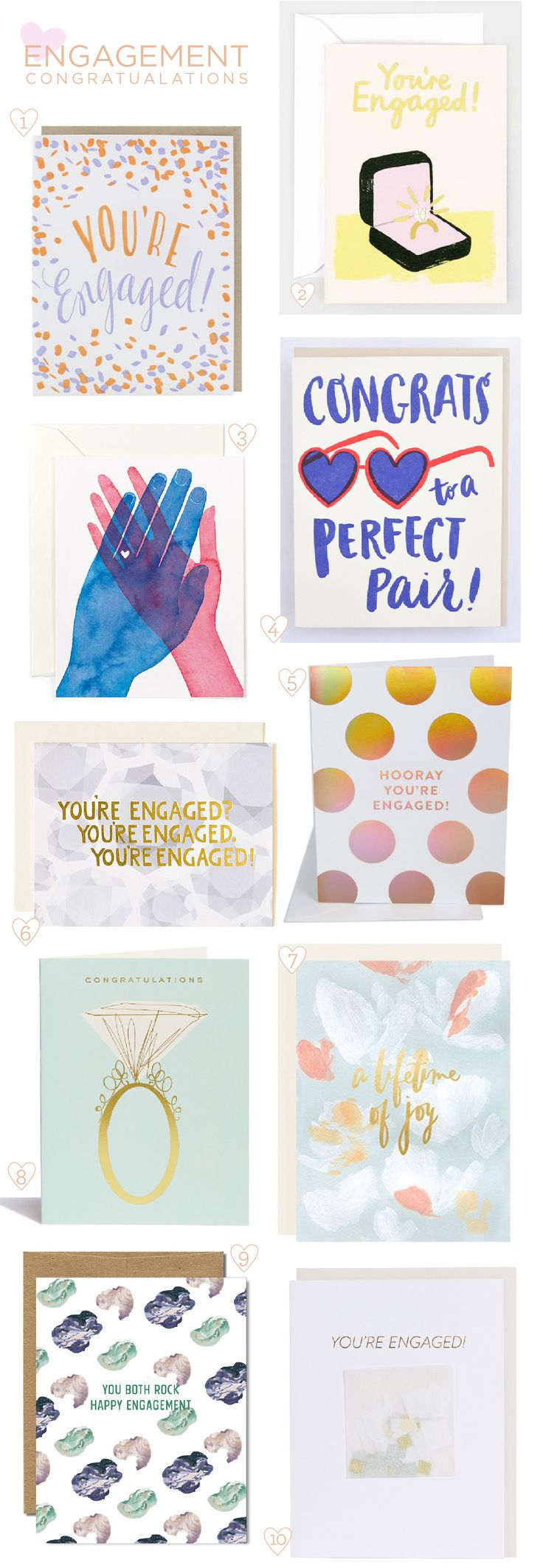 Engagement Congratulations Card Round Up