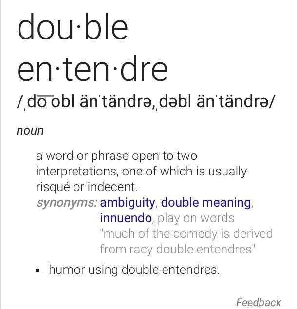 Double Entendre Fun With Vocabulary Pinterest Double Entendre