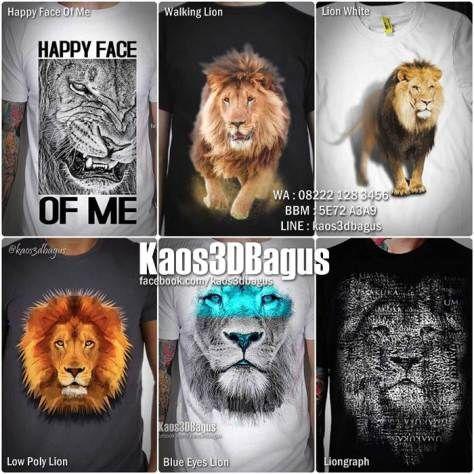 Kaos SINGA 3D, Kaos Macan, Kaos Kepala SINGA, Kaos LION 3D, Kaos Gambar Singa…