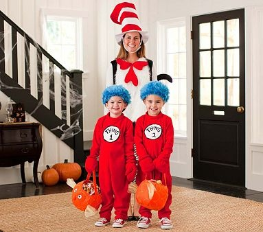 Dr. Seuss™ Family Costume #WilliamsSonoma: Holiday, Halloween Idea, Seuss Family, Halloween Costumes, Costume Ideas, Families, Dr. Seuss, Family Costumes