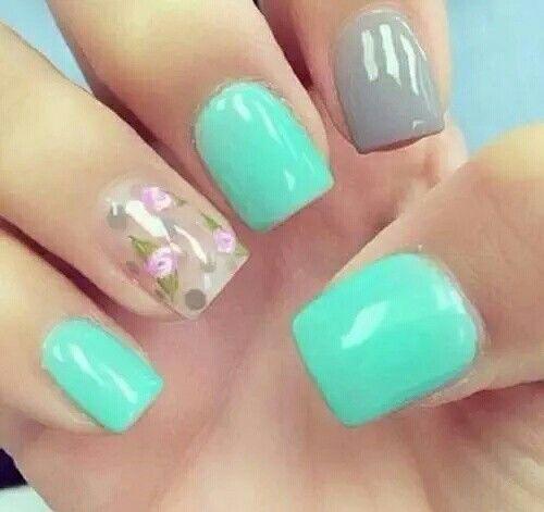 Spring, floral nails