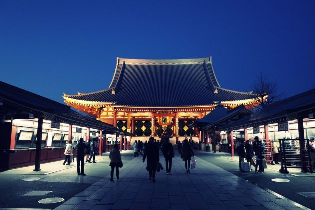 1. Le Senso-Ji temple de Tokyo (Japon) : 30 millions de visiteurs annuels.