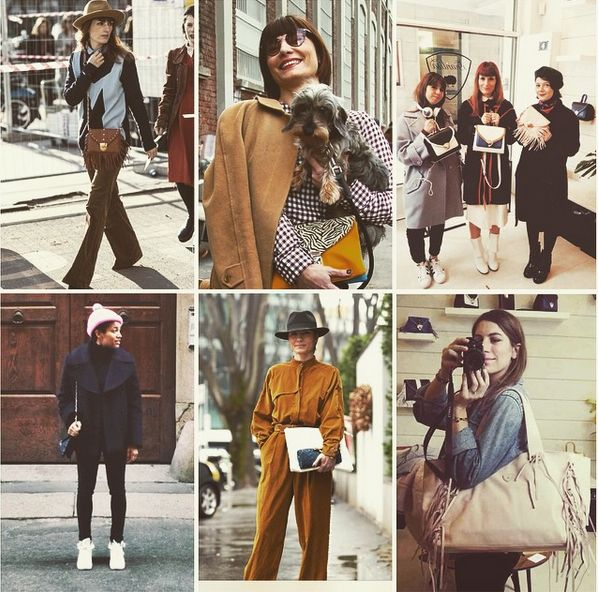 #TamuMcPherson with ella black&Blue-Daniela zuccotti from @fregole with patti white and ella zebra pop- Alice Cheron from @alidifirenze with #MyMamaBag -Francesca Crippa and Sara Moschini from #Grazia- RossellaMalaguernera rom Tu Style-#Saramoschini with mini ella folk cognac #gianlisa #mfw #streetstyle