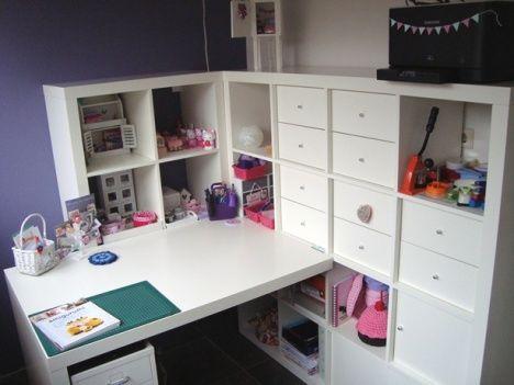 Ikea craft room - regal und schreibtisch in einem