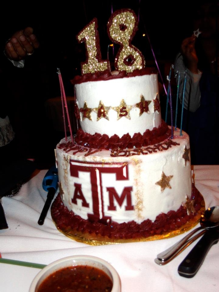 A prospective aggie 39 s 18th birthday cake hullabaloo for 18th cake decoration