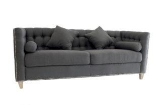 Sofa cuadrado capitone 77 x 198 x 80 cm plomo - SOFAS