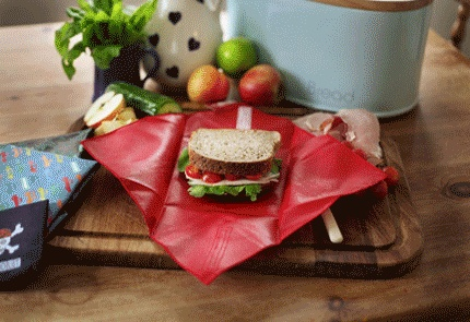 4MyEarth® reusable sandwich wraps and pockets are an environmentally friendly way  to wrap up you food that can be used again and again.