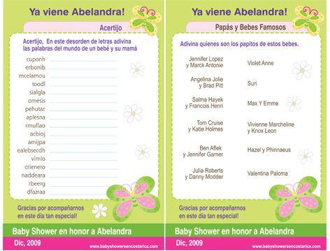 Imagenes De Juegos De Mesa Para Baby Shower Gratis Para Imprimir