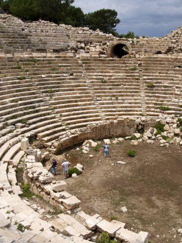 Amphitheatre at the Lycian Site of Patara, Near Kalkan, Anatolia, Turkey